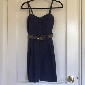 Poetry dress with adjustable straps